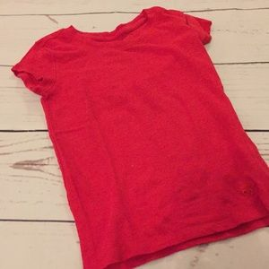 Girls Justice Red Tee Sz 6